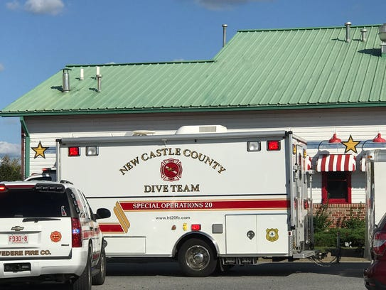 A New Castle County Dive Team was called to assist