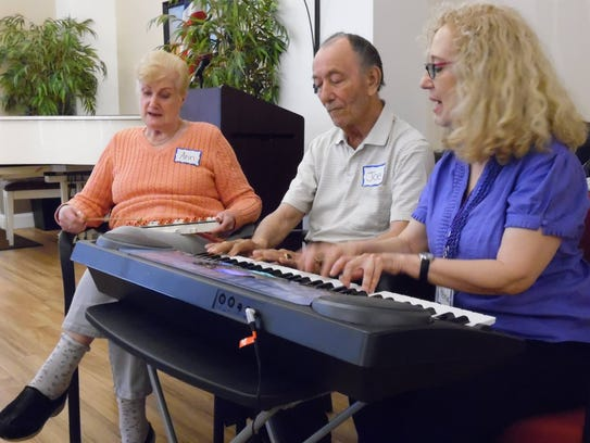 Ann and Joe Augusta with Certified Music Therapist