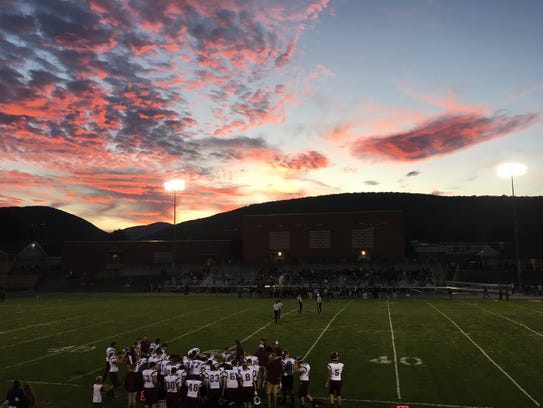 A beautiful backdrop to the start of the Buffalo Gap-Stuarts