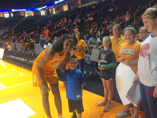 Tennessee Lady Vols forward Jaime Nared poses with