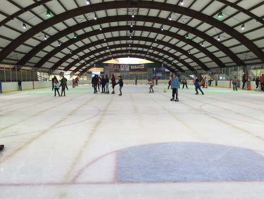 Open skating at Cass Park Arena.