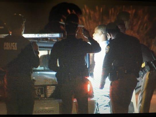 Radee L. Prince, 38, of Belvedere is taken into custody near Glasgow in October.