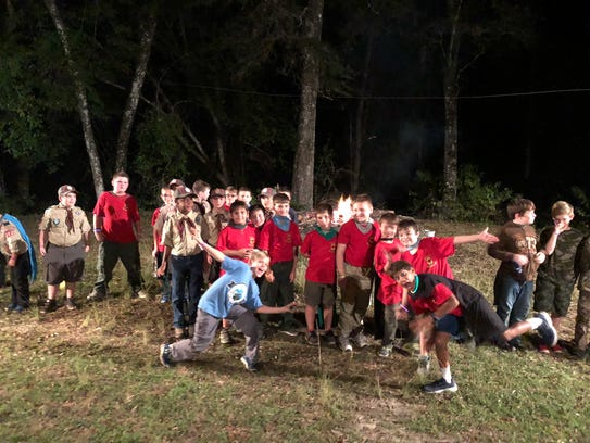 Cubs from the Suwannee River Area Council engage in