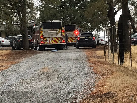Emergency crews at the scene where a 16-year-old was