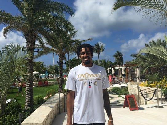 University of Cincinnati basketball player Jacob Evans
