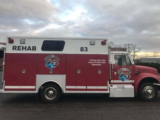 This donated truck now serves as the rehab truck for