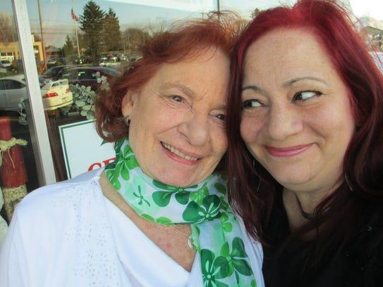 """Jeraldine """"Jerri"""" Blomgren (left) with her daughter, Maureen."""