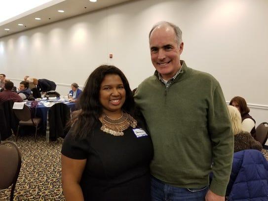 Shavonnia Corbin-Johnson, left, worked for Sen. Bob