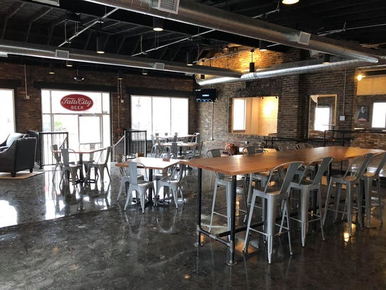 Inside the taproom of Falls City Brewery in Nulu.