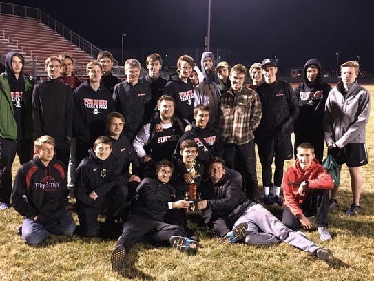Pinckney's boys were second in the Trojan Relays at
