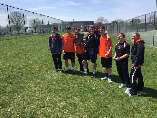The Palmyra boys tennis team celebrated its first Lebanon