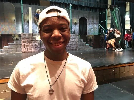 Peekskill High School senior Gordon Evans plays Maurice,