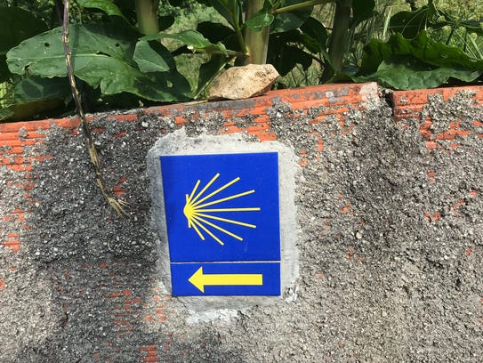 Stones put out on the Camino in honor, or in memory