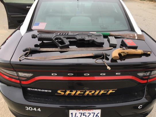 Weapons found when Monterey County Sheriff's deputies