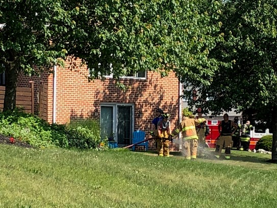 Firefighters respond to a fire at 1780 Creston Drive