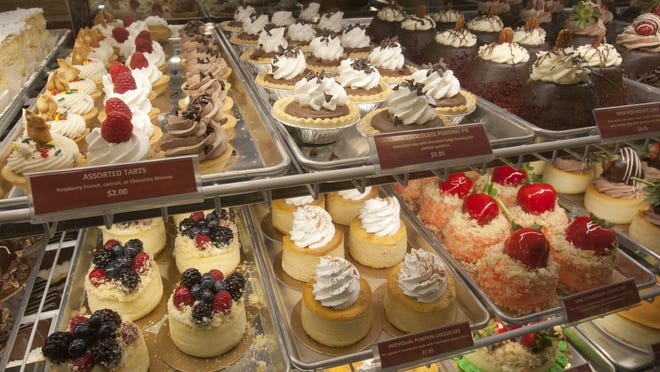 Desserts on display at the Red Bank location of Carlo's Bakery.