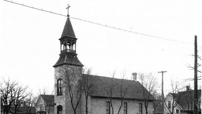 The original church building that housed Holy Cross Lutheran Church from 1897-1924.