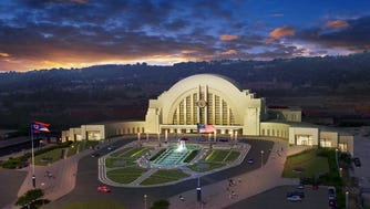 An artist's rendering of Cincinnati's Union Terminal when its renovation is complete.