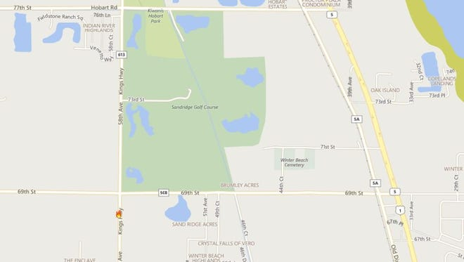 Fireworks caused a brush fire Tuesday near Winter Beach in Indian River County.