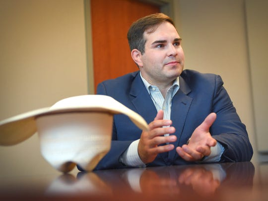 State Sen. Billie Sutton spoke with Argus Leader Media Wednesday, July 19, about his efforts to meet Sioux Falls area voters. Sutton is running for governor as a Democrat.