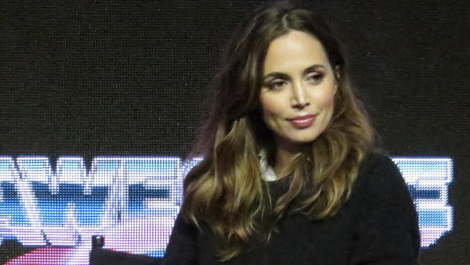 Actress Eliza Dushku during a Q&A session at Awesome Con 2017, in Washington, DC.