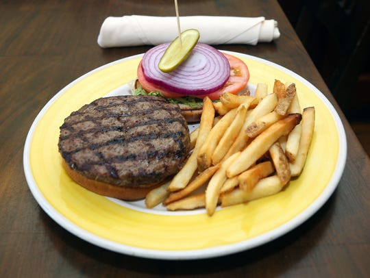 Big Daddy burger with fries at Silver Spoon Cafe on