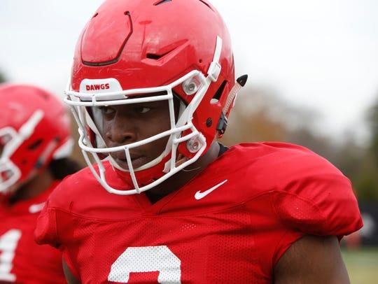 Georgia NCAA college football linebacker Roquan Smith