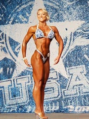 Casi Tribbett at the NPC Branch Warren Classic in Houston, on June 30, 2018. She took first and fifth in the novice and open categories.