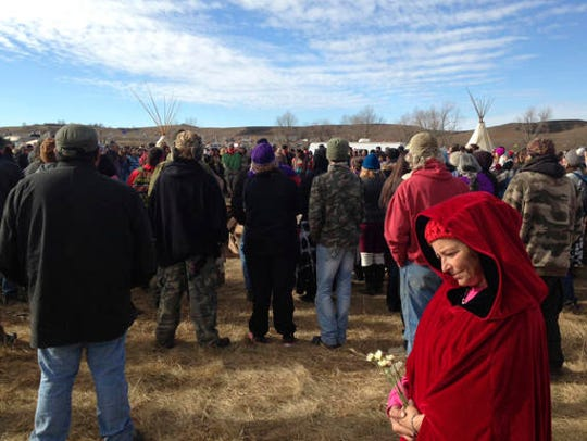 Opponents of the Dakota Access oil pipeline gather