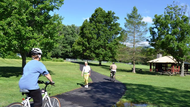Trail recreation at Loantaka Brook Reservation in Morris Township.