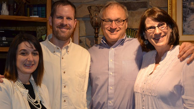 From left, Amie and Benjamin Mutti and John and Barb Fehl. The Fehls hand- delivered a letter, co-authored by Benjamin Mutti, to Israeli Knesset member Yuda Glick apologizing for U.S. neglect of Israel.