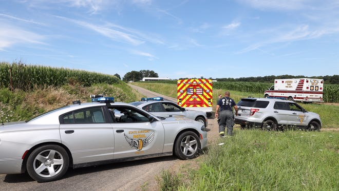 An experimental plane crashed in a corn field near the area of Northfield and Sonora roads just before 4 p.m. Thursday.