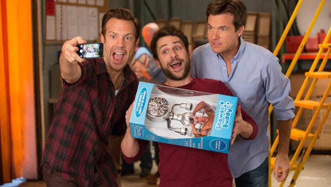 "Jason Sudeikis (from left), Charlie Day and Jason Bateman return for more of the same in ""Horrible Bosses 2."""