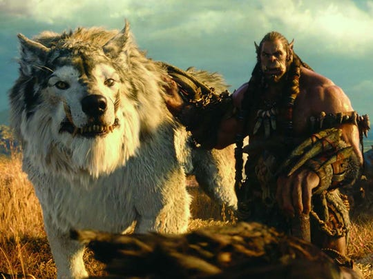 "When buttuglies such as this, astride giant wolves invade our world courtesy a portal from their dimension you know the situation is serious in ""Warcraft: the Beginning."""