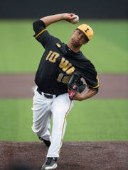 Iowa pitcher Blake Hickman has a 6-1 record and 2.56 ERA this season. He's 4-0 in Big Ten starts with a 1.88 ERA and can reach 96-97 mph with his fastball.