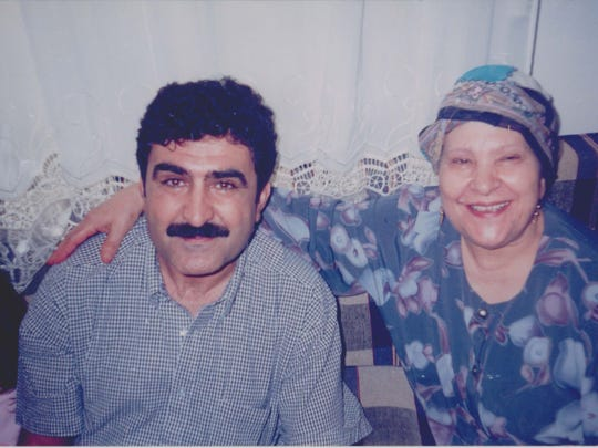 Salah ElDarragi, left, is pictured with his mom, Mariam