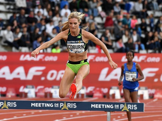 Emma Coburn places fifth in the women's steeplechase