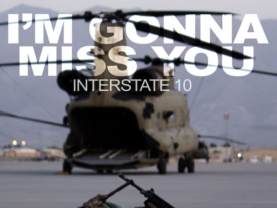 """The cover art for Interstate 10's """"I'm Gonna Miss You"""""""