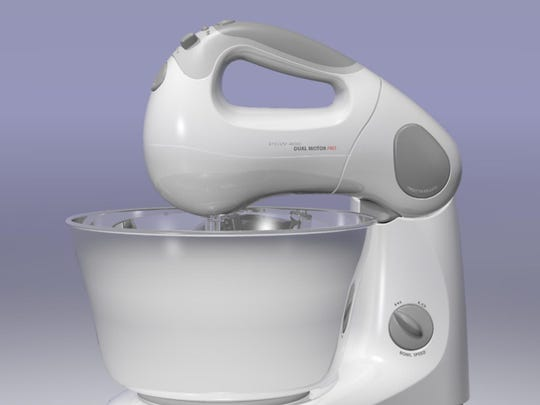 The Mixa stand and hand mixer