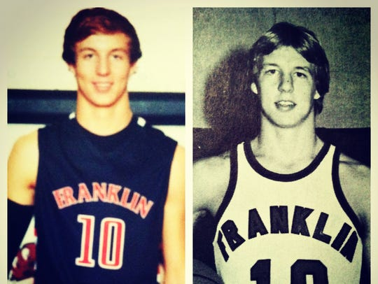 Luke Kennard (right) followed in his father's footsteps