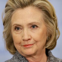 Hillary Rodham Clinton speaks to reporters at United Nations headquarters, Tuesday, March 10, 2015.