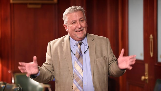 Senator Mike Folmer, R-48, a three-term state senator, provides a tour of the Pennsylvania State Capitol on Oct. 19.