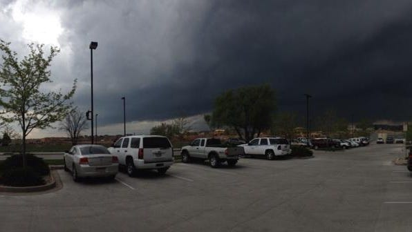 Dark skies dominate to the west of Fort Collins on Wednesday afternoon.