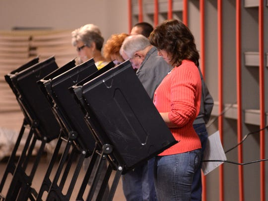 Residents cast their votes at Vernon Park Mall in Kinston,