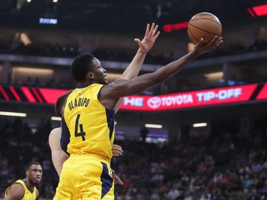 Mar 29, 2018; Sacramento, CA, USA; Indiana Pacers guard