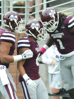 Mississippi State returns Fred Ross (center) in 2016 but wide receiver is still a priority for the Bulldogs on signing day.