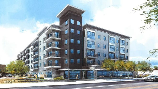 A rendering of the Linear apartment complex.