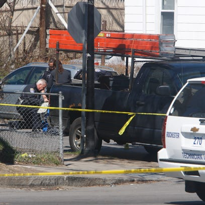 Rochester police investigate a shooting at the corner