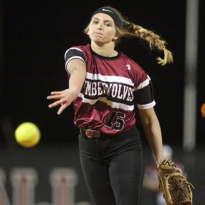 Chiles senior Allie Lavoie pitches against Leon. Lavoie