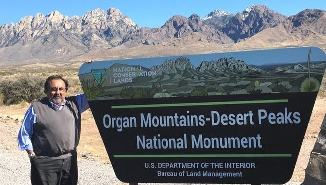 U.S. Rep. Raúl Grijalva, D-Arizona visited the Organ Mountains-Desert Peaks National Monument on Wednesday, Jan. 25, 2017, part of a national tour of federally protected sites.